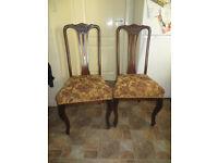 Edwardian chairs or Edwardian style, very stylish chairs x 2