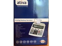 BRAND NEW WITH BOX CALCULATOR WITH PRINTER FUNCTION