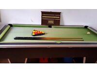 Supreme slate bed 7 x 4 pool table,