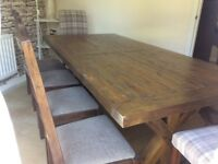 Dining table, Chairs and Bench