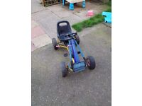 Kids pedal go-kart, excellent condition