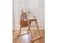 Highchair - Mothercare Valencia Wooden Natural