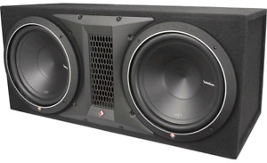 """Rockford Fosgate P 300-1 AMP, Two 10"""" Subs, and Sealed Sub Box"""