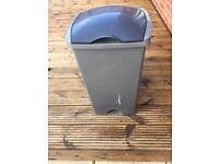 Kitchen lidded bin. Grey with dark grey lid