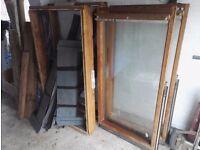 2 x matching large vertical wood framed Velux windows