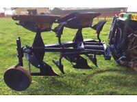 2 furrow hydraulic reversible tractor plough implement farm farming