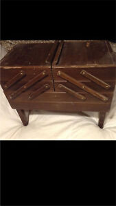 Vintage Wooden Accordion Sewing Box (this was my grandmothers)