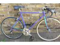 French Vintage road racing bike MBK Leader frame size 22inch - 12 speed Shimano, serviced WARRANTY