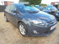 2013 63 FORD FOCUS 1.6 ZETEC 5DR AUTOMATIC 125 BHP LOW MILEAGE ONLY 46K MILES FI