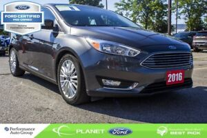 2016 Ford Focus Titanium|LEATHER|MOONROOF|NAV|FORD CERTIFIED