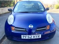 2003 Nissan Micra E 1.0 Low Miles Long Mot. Drives Superb.
