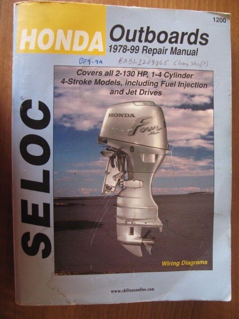 1978-1999 Honda Seloc 2-130 HP 1-4 Cylinder Service Repair Manual