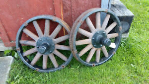 *** RIMS ONLY *** Wood Spoked Wheels circa 1920's
