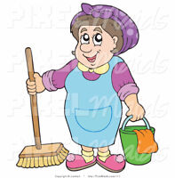 Busy Body Cleaning Lady