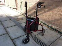 Aluminium ti-wheel walker.