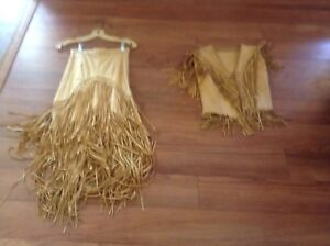 Deerskin suit (skirt and vest) size XS