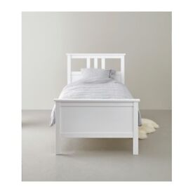 White IKEA single bed + Mattress