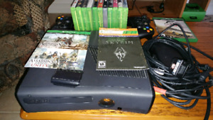 Xbox 360 S + games for sale