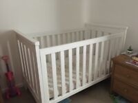 Boori country classic cot bed and mattress