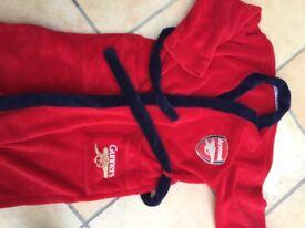 Arsenal dressing gown. Boys 9-10.