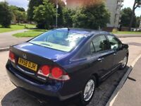 HONDA CIVIC HYBRID IMA 2008 ***LOW MILAGE* TAX ONLY £10 / YEAR *REDUCED PRICE QUICK for SALE****