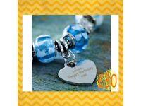 Sky Blue Charm Bracelet
