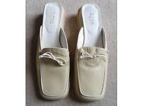 BCGG Mules With Lovely White Bows Size 5.5 UK