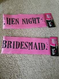 Free Hen party sashes