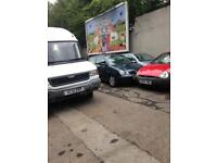 Scrap cars and vans bought for cash. Good price given.