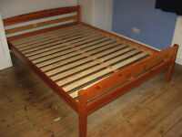 """4'6"""" Pine Double Bed"""
