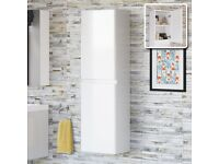 Wall Hung Bathroom Cabinet Storage Unit 2 Door Soft Close