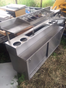 Stainless Steel Condiment Table
