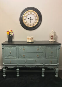 Beautiful Refinished 1930's Antique Sideboard/Buffet!