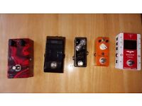 various effect pedals