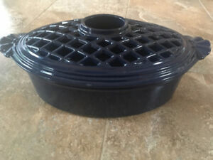 BLUE CAST IRON WOOD STOVE HUMIDIFIER