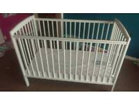 Cot with change mat