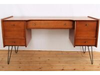 Vintage teak dressing table, hairpins, A.Younger Ltd., 1950s
