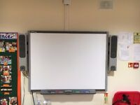 Smart Board 660 with smart speakers and wall mount projector