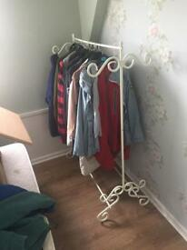 Open wardrobe and shoes rack