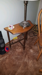 side coffee table with three legs