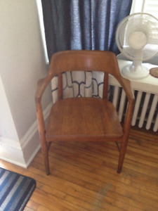 Solid wooden chair, needs a new home.