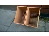 Two solid wood cutlery or crockery holders central London bargain
