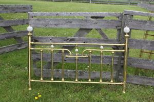 Queen size brass bed frame