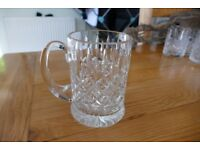 Great Crystal Pint glass tankard New never used TREAD the Globe