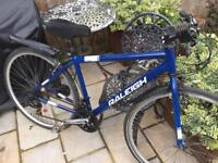 Men's 19 Hybrid Raleigh Eadle bike bicycle. Free delivery
