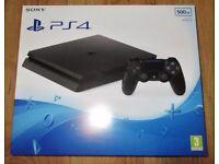 PS4 slim 500gb & games