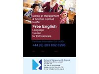 FREE ENGLISH CLASSES FOR EU NATIONALS