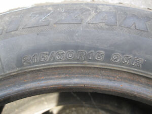 2~215/60/16-Bridgestone Blizzack Snow Tires