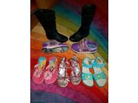 Girl's shoes and lighting up heelys size 12-1