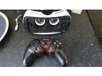 Samsung Oculus VR Headset and BEBONCOOL Wireless Bluetooth Controller